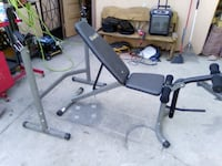 Workout Bench with Multi purpose Rack