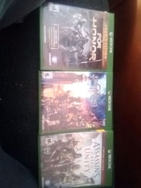 3 Xbox one games 20$ each Barre, 05641