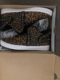 Brand new supra falcon size 12 shoes cheetah white color Mississauga, L5L