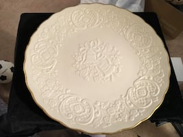 large Lenox Wedding Plate