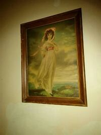 Antique Painting (Blue boy by the sea)