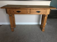 Pier 1 Wooden Farmhouse Side Table, Desk, or Console (with 2 removable drawers) Aliso Viejo, 92656