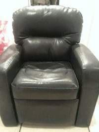 black leather sofa chair with ottoman Coral Gables
