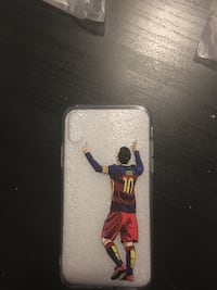 soccer player printed iPhone X case