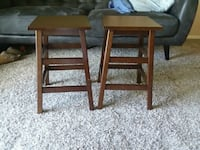 two brown wooden bar stools Indianapolis, 46240