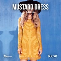Mustard dress size 36 .. Oslo, 0379