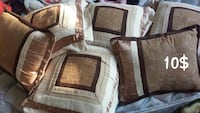 brown and white throw pillow set Morris, 60450