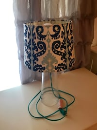white and blue floral table lamp Escondido, 92025