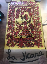 "La Jicara Mexican print from Chiapas MX workshop.   35"" long x 19"" wide Washington, 20005"