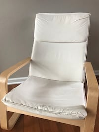 White Ikea chair with natural wood Aurora, 60502