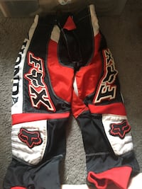 black, white, and red Fox racing pants Pitt Meadows, V3Y