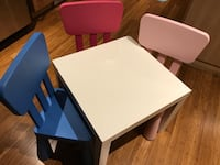 Ikea table and three chairs  Brossard, J4Y 0B3