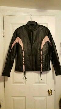 black and white leather zip-up jacket Bakersfield, 93311
