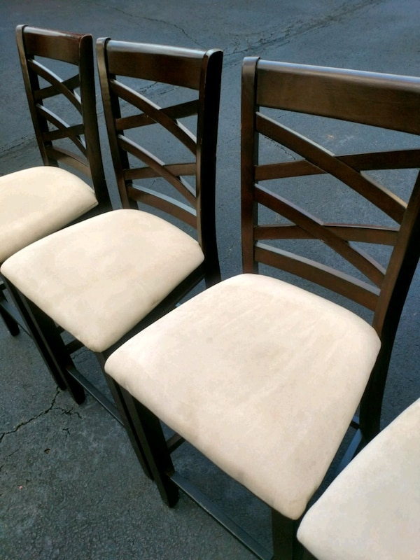 Wooden stool type chairs (4)