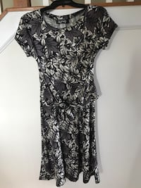 Gray and black floral dress 30 km