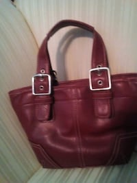 women's red leather tote bag Atlanta, 30311