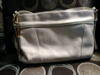 stone & co. White leather purse Bakersfield