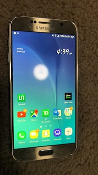 Gold samsung galaxy s6 android smartphone London