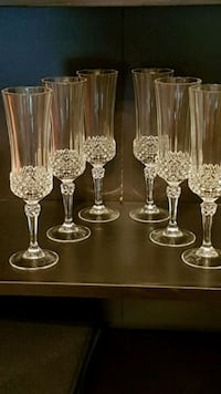 6 crystal wine glasses  Winnipeg, R2J 0M3