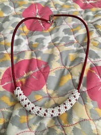Red Handmade Bead Necklace Vancouver, V6P