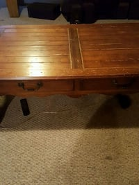 brown wooden single drawer side table Ashburn, 20147