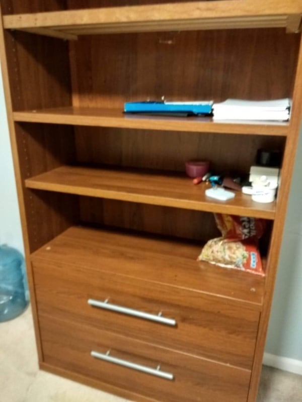 Book shelf with 2 drawers  5601499c-aa70-42cb-b932-d473053adc5e