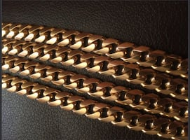 10k solid gold Cuban link chain