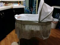 white and gray floral bassinet San Antonio, 78254
