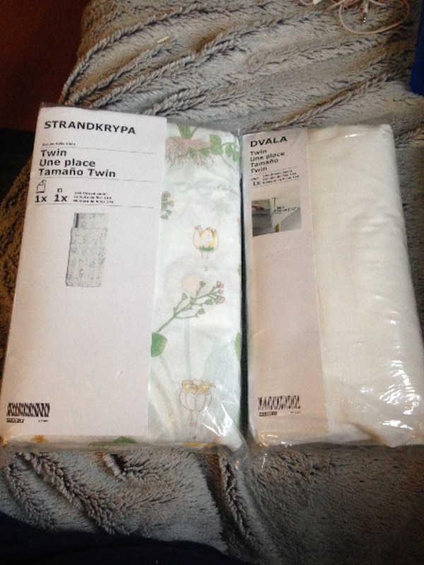 UNOPENED TWIN SIZE SHEET + PILLOW AND DUVET SET