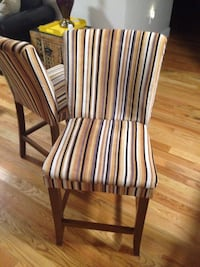 Striped Parson Counter Chairs