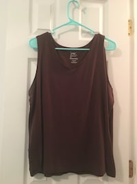 women's brown sleeveless top 596 mi
