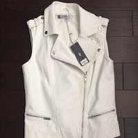 Jennifer Lopez faux white leather vest Mesa, 85207