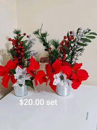 red and white artificial flowers Minto, N0G 1Z0