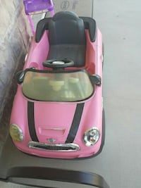 pink MINI cooper ride on toy car