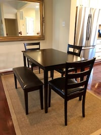 Dining table set New Bench 3 chairs Wood Baltimore