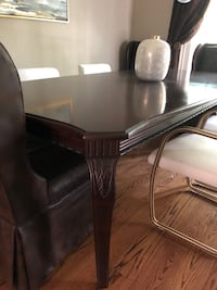 Bernhardt Dining room table, buffet, and mirror Tampa, 33609