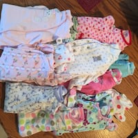 Infant baby girl sleepers  (13) newborn to 3 months Shenandoah Junction, 25442