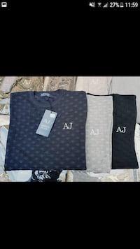 tre t-shirt girocollo AJ a colori assortiti Monteviale, 36050