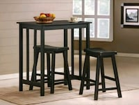 Dina Dark Brown 3-Piece Counter Height Table Set | Houston, 77036