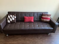 Leather couch- folds out to become a bed or attach the two together. Silver Spring, 20902