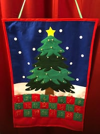 Christmas tree countdown calendar.$25 in excellent condition  26 mi