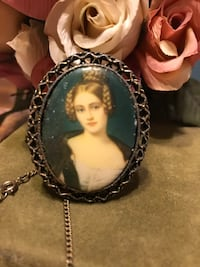 Gorgeous! Vintage! Victorian cameo Girl Necklace Gainesville, 20155