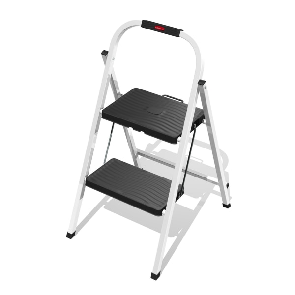 Excellent Rubbermaid Folding 2 Step Lightweight Steel Step Stool Ladder With Hand Grip Pabps2019 Chair Design Images Pabps2019Com