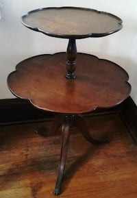Antique 2-Tiered Side Table