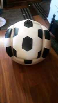Black and white Leather Soccerball Chair