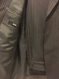 Men's Hugo Boss Black Pinstripe Suit size 38S