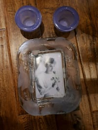 Candle holders and crystal picture frame  Bowmanville, L1C 1G5
