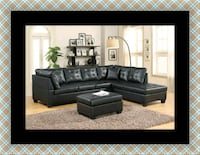 Black sectional with ottoman 52 km