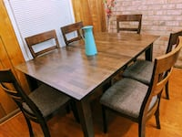 Mahogany dining room and/or kitchen table and chairs West Springfield, 22152