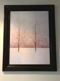 black wooden framed painting of trees Vaughan, L6A 2H1
